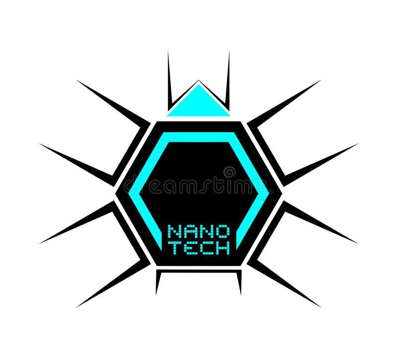 Icône nanoe de technologie illustration de vecteur