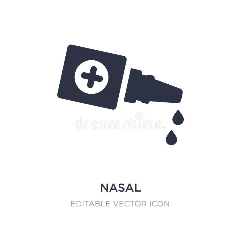icône nasale sur le fond blanc Illustration simple d'élément de concept médical illustration stock