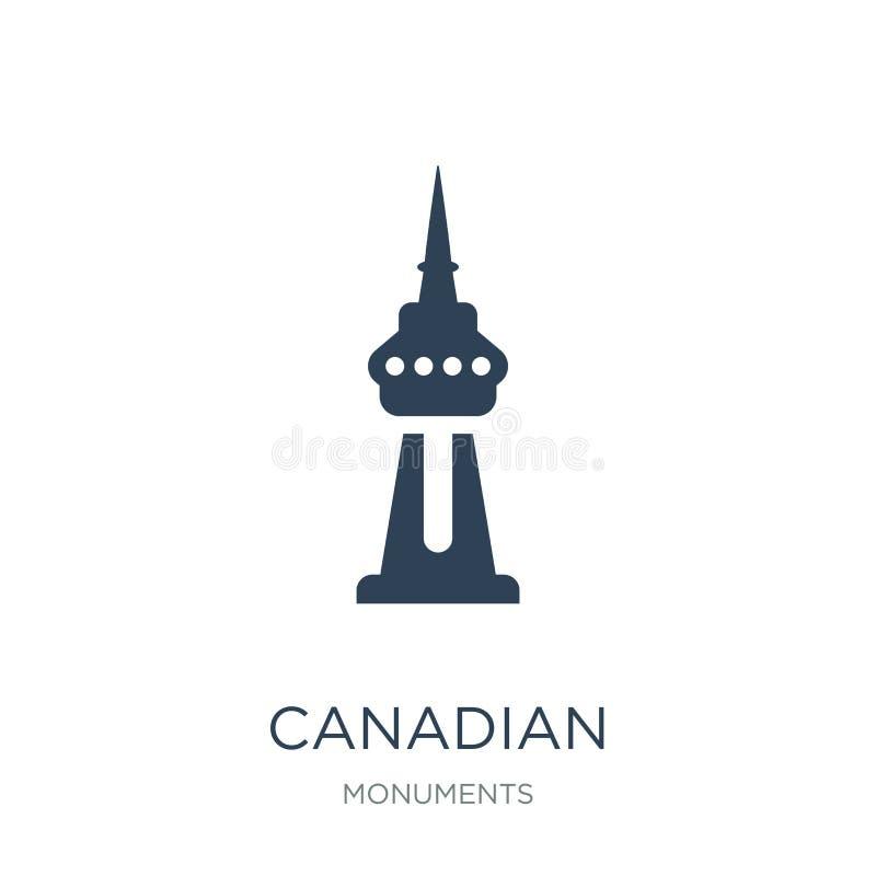 icône nationale canadienne de tour dans le style à la mode de conception icône nationale canadienne de tour d'isolement sur le fo illustration de vecteur