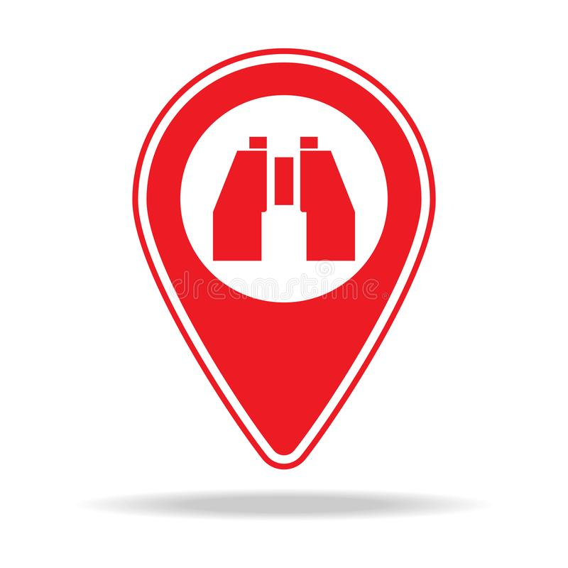 icône naturelle de goupille de carte de caractéristique Élément d'icône d'avertissement de goupille de navigation pour les apps m illustration libre de droits