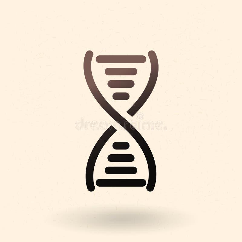Icône noire d'ADN de vecteur Symbole d'acide désoxyribonucléique illustration de vecteur