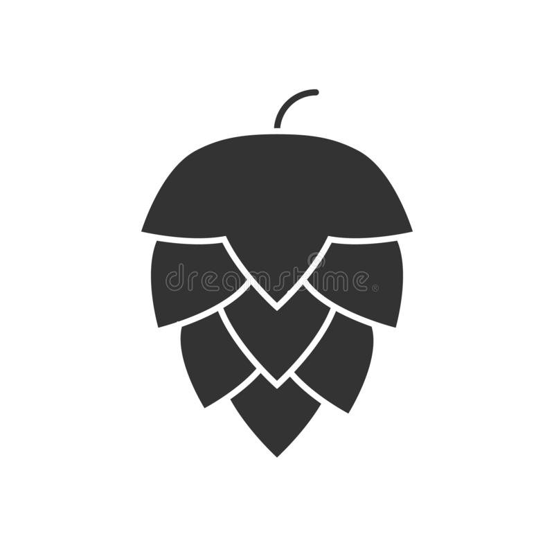 Icône noire d'houblon illustration de vecteur