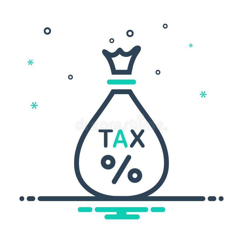 Icône noire de mélange pour l'impôt, l'exemption et les économies illustration libre de droits