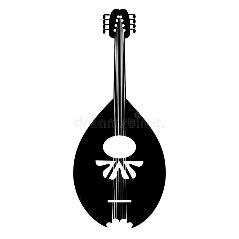 Icône noire de mandoline sur le fond blanc illustration libre de droits
