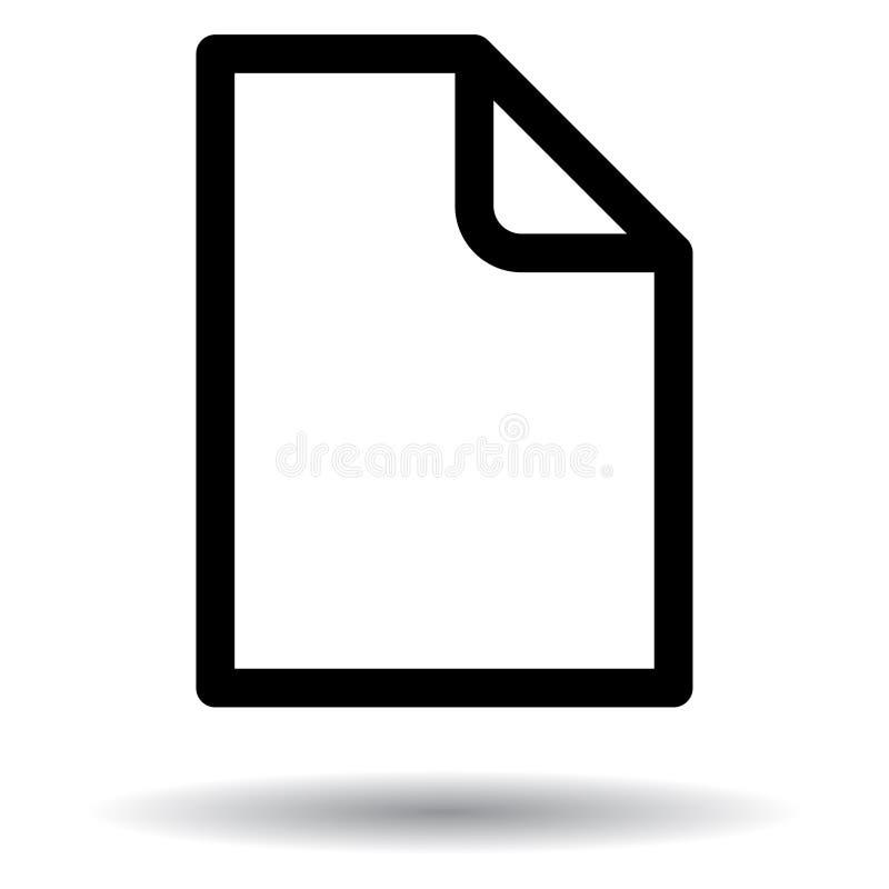 Icône noire et blanche de nouveau document illustration libre de droits