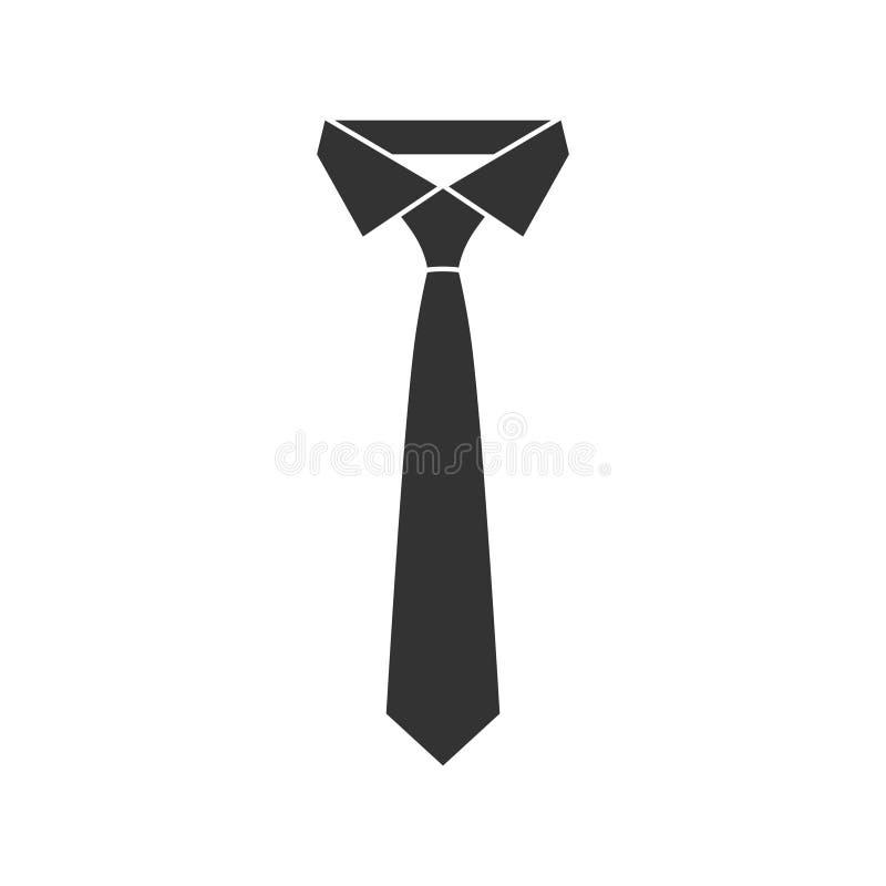 Icône noire graphique de cravate Symbole d'affaires illustration de vecteur