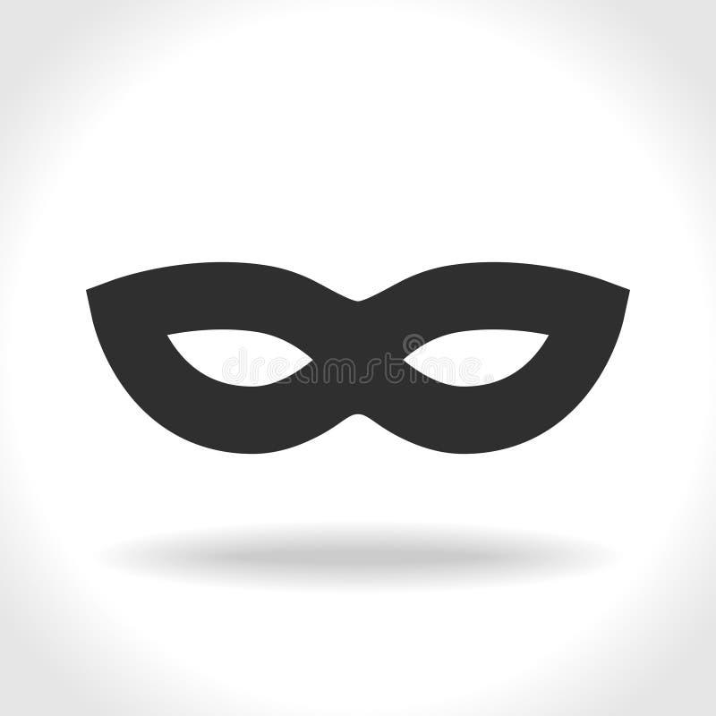 Icône noire incognito de masque illustration de vecteur