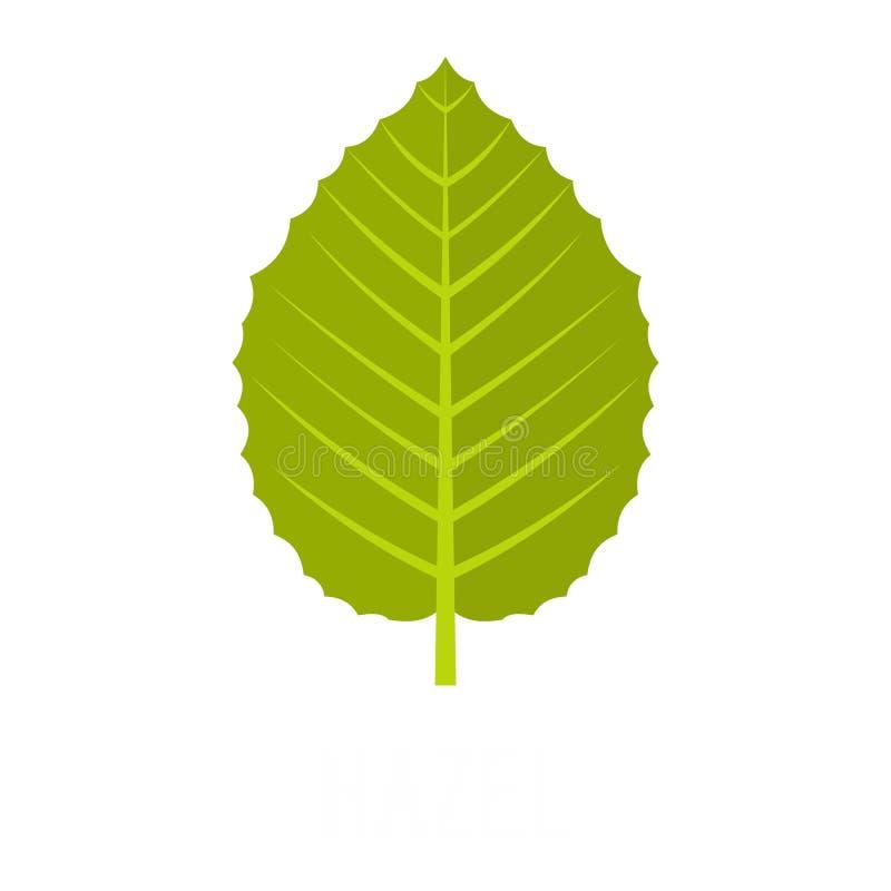 Icône noisette de feuille, style plat illustration de vecteur