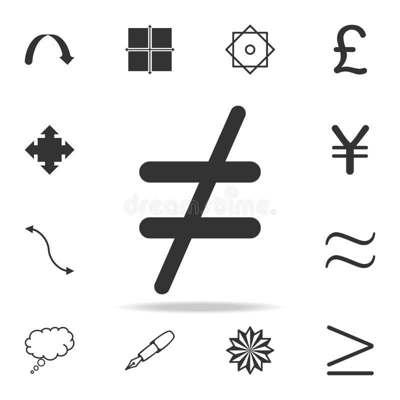 icône non égale Ensemble détaillé d'icônes et de signes de Web Conception graphique de la meilleure qualité Une des icônes de col illustration de vecteur