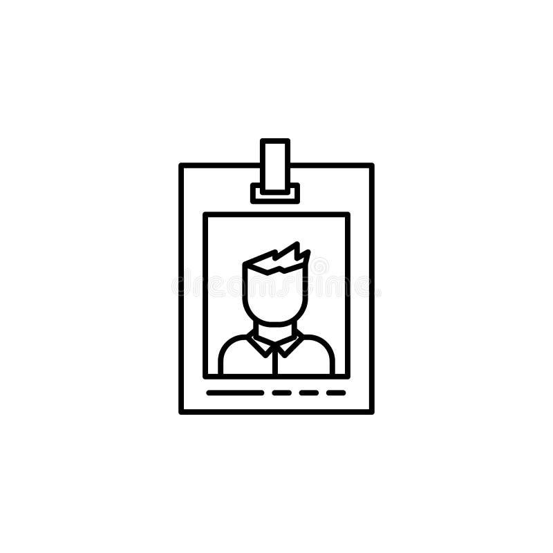 icône notable de police Élément d'icône de crime et de punition pour les apps mobiles de concept et de Web La ligne mince icône n illustration libre de droits