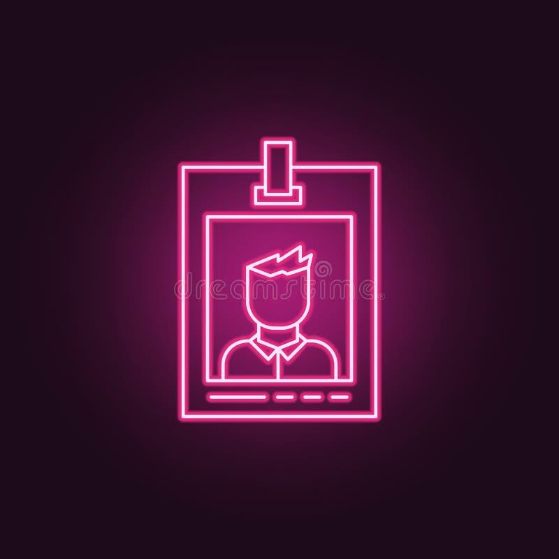 icône notable de police Éléments d'enquête de crime dans les icônes au néon de style E illustration libre de droits