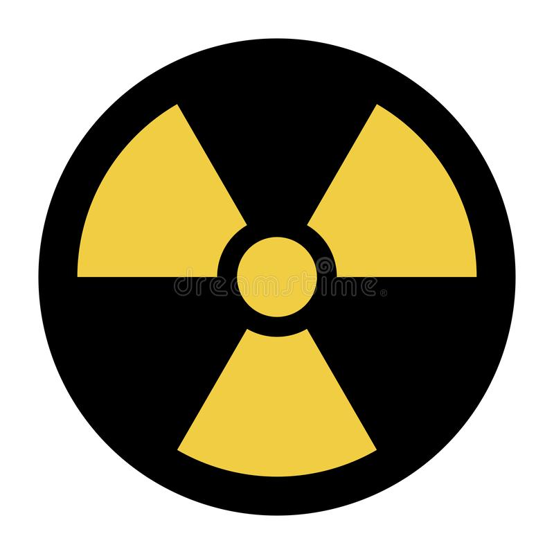 Icône nucléaire de symbole illustration libre de droits
