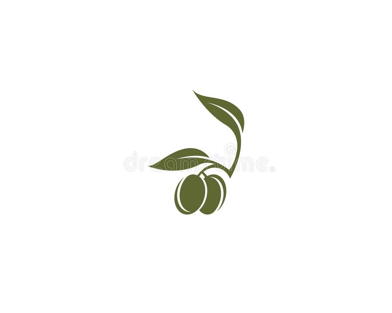 Icône olive de vecteur de calibre de logo illustration libre de droits