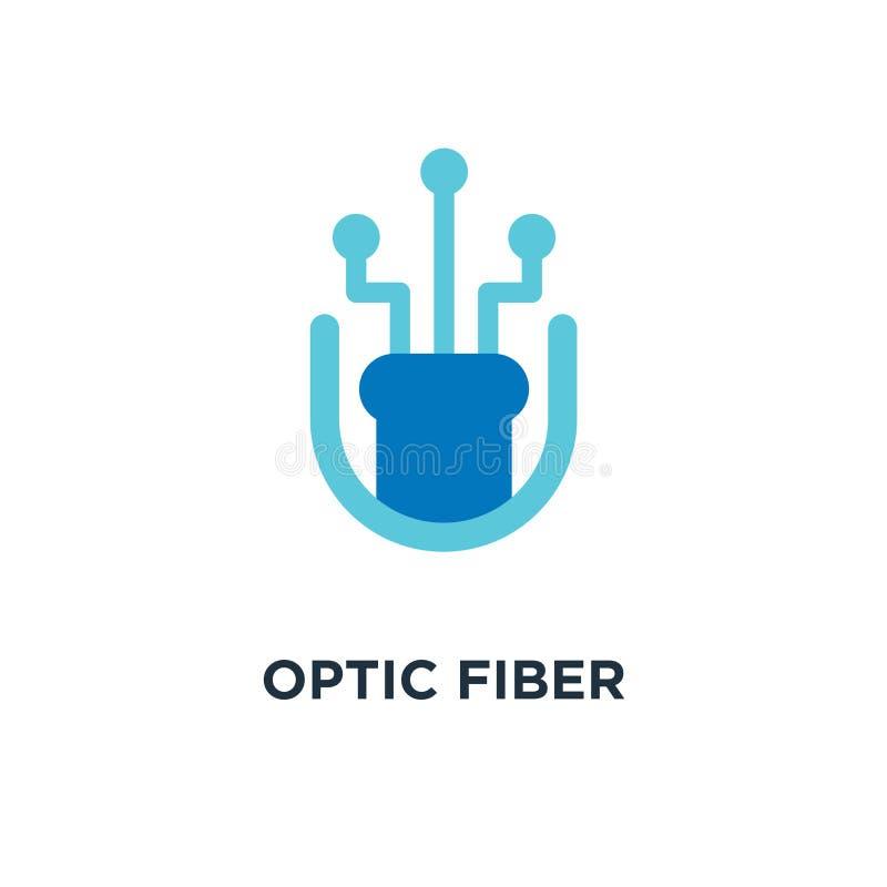 icône optique de largeur de bande de fibre symbole optique de concept de largeur de bande de fibre illustration libre de droits