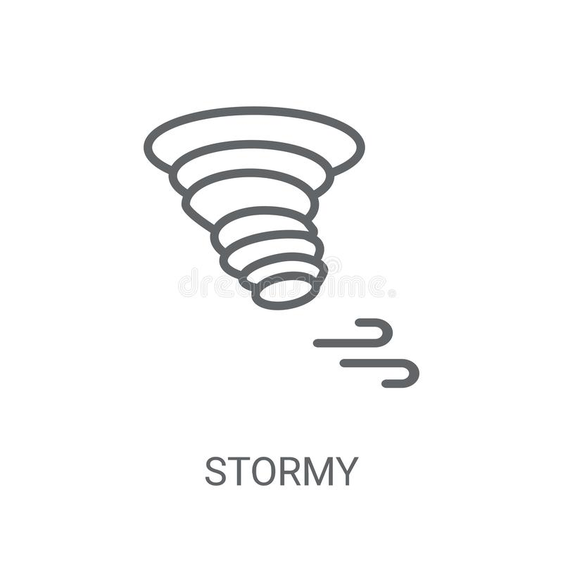 Icône orageuse Concept orageux à la mode de logo sur le fond blanc de illustration libre de droits