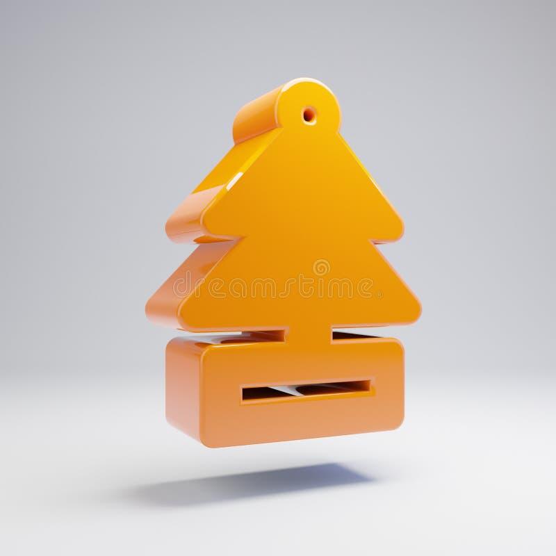 Icône orange chaude brillante volumétrique de parfum d'ambiance d'isolement sur le fond blanc illustration de vecteur