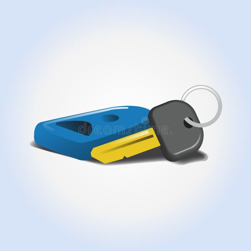 Icône ou illustration automatique de vecteur de locations de voiture illustration stock