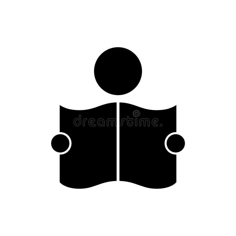 Icône ou logo lue de journal illustration de vecteur