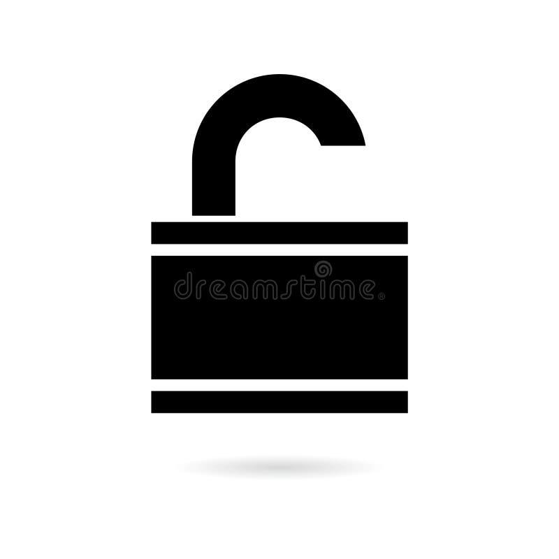 Icône ou logo noire d'infraction de données illustration de vecteur