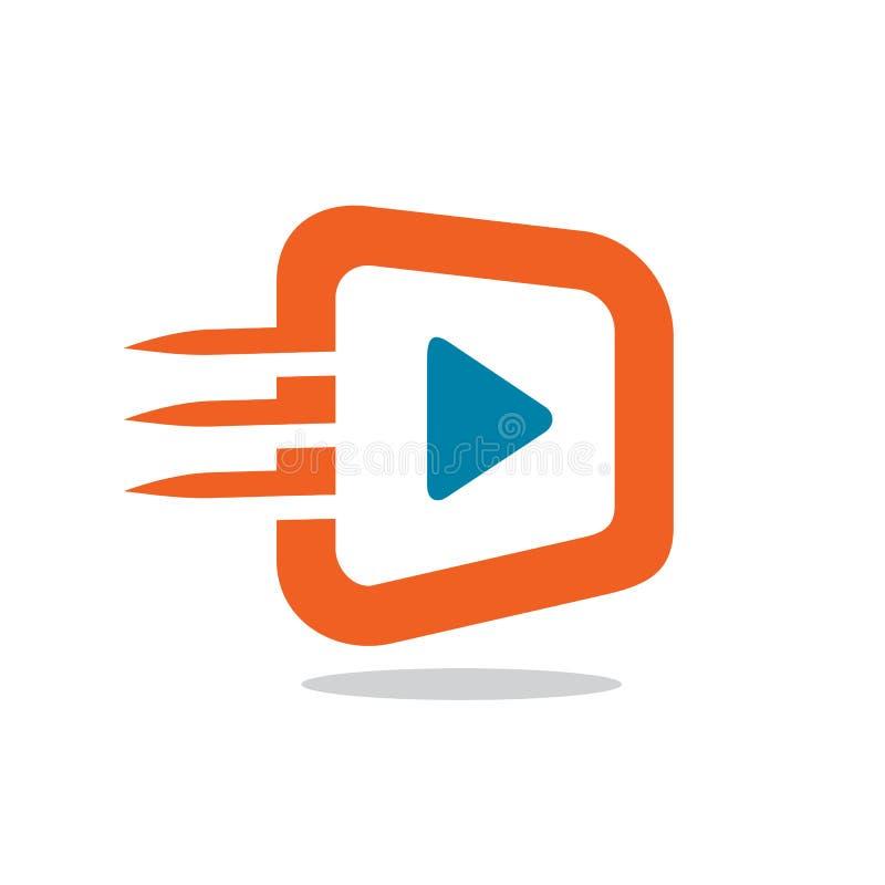 Icône ou logo visuelle rapide, conception d'illustration de vecteur illustration libre de droits
