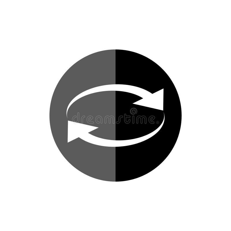 Icône ou signe de converti d'argent illustration stock
