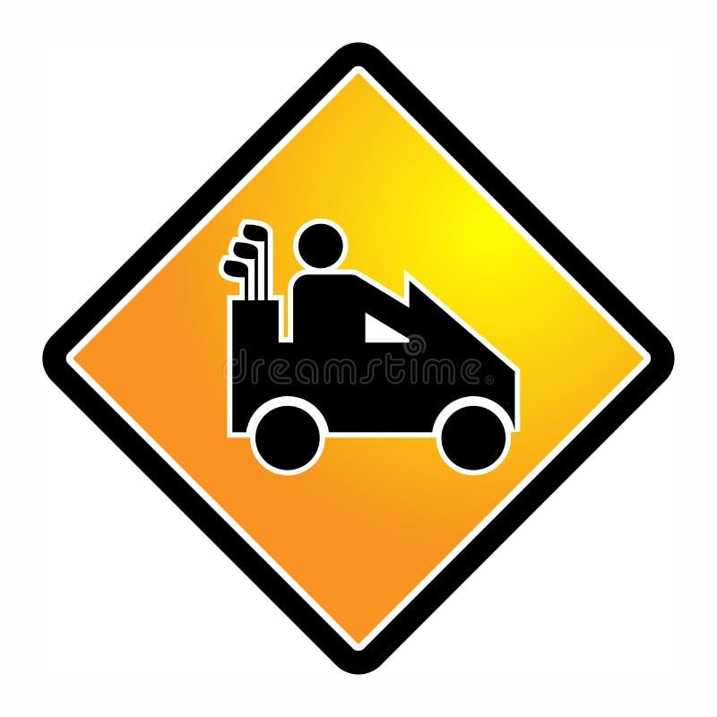 Icône ou signe de voiture de golf illustration stock