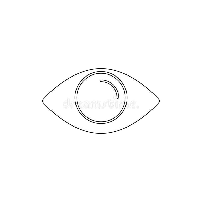 Icône ouverte d'ensemble d'oeil Des signes et les symboles peuvent ?tre employ?s pour le Web, logo, l'appli mobile, UI, UX illustration stock