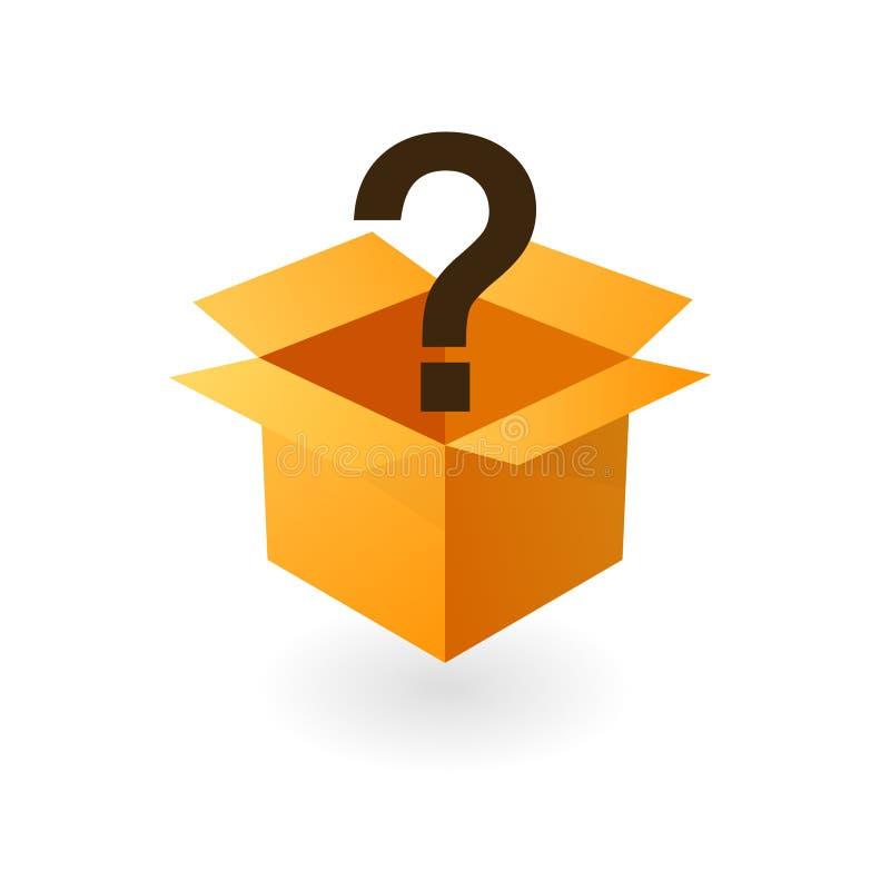 Icône ouverte de boîte de mystère illustration libre de droits