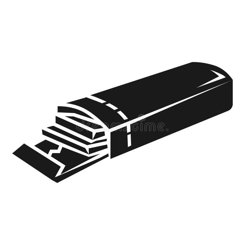 Icône ouverte de gomme de paquet, style simple illustration de vecteur
