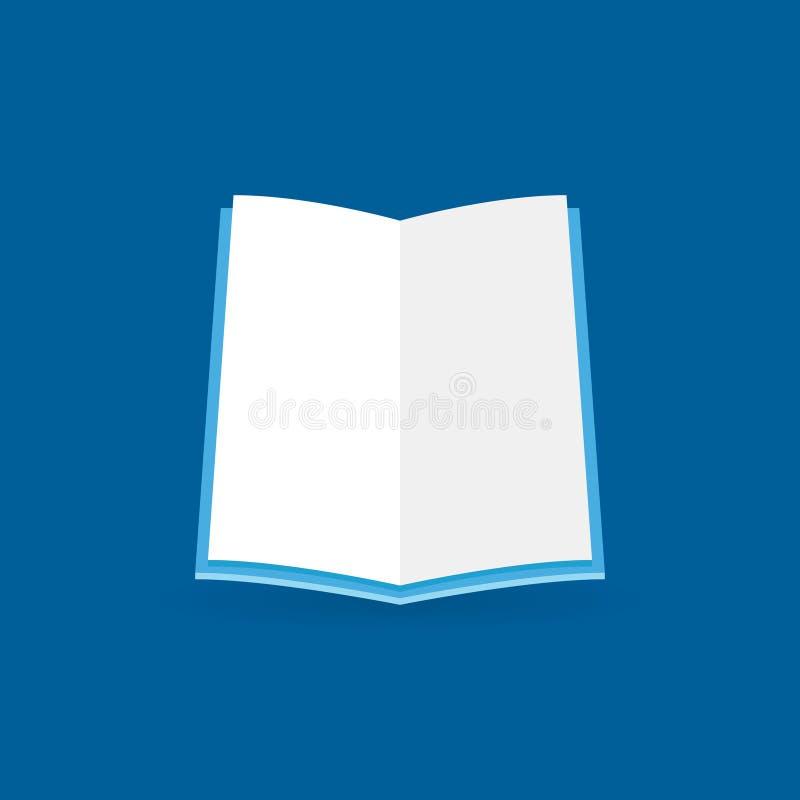 Icône ouverte plate de livre Symbole de concept d'éducation de vecteur illustration de vecteur