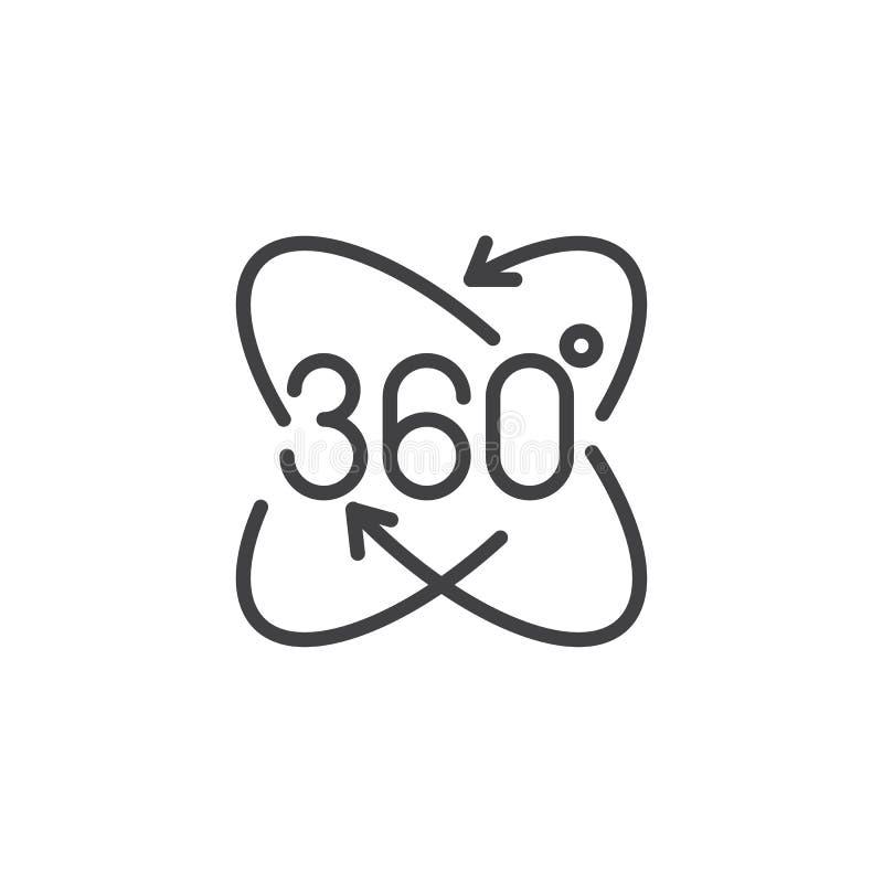 icône pamoramic d'ensemble de vue de 360 angles illustration de vecteur