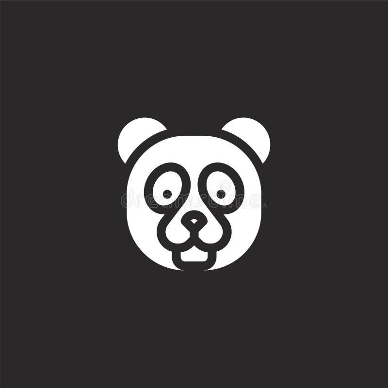 icône panda-ours Icône d'ours panda rempli pour la conception de sites Web et le développement d'applications mobiles l'icône de  illustration de vecteur