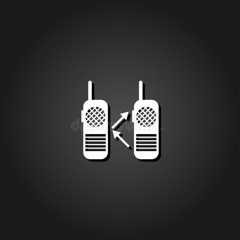 Icône par radio plate illustration stock