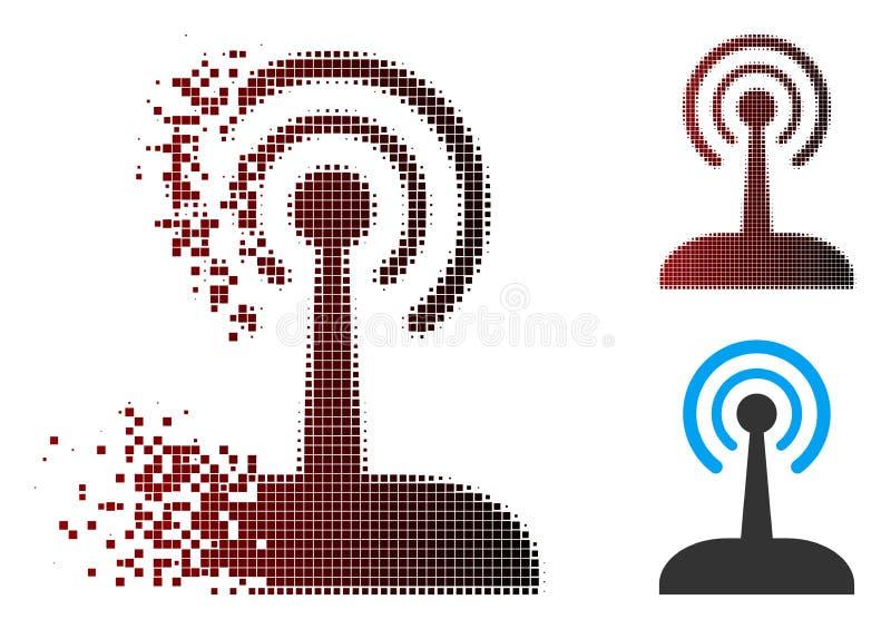 Icône par radio tramée de manette de pixel mobile illustration de vecteur