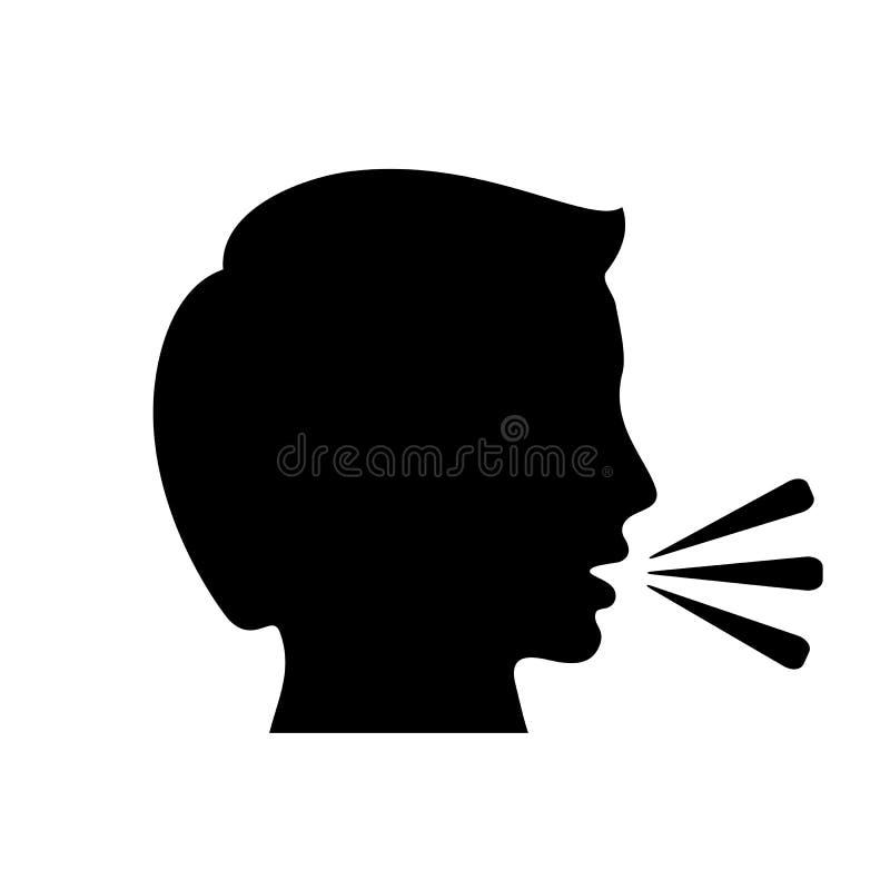 Icône parlante de vecteur d'homme illustration libre de droits