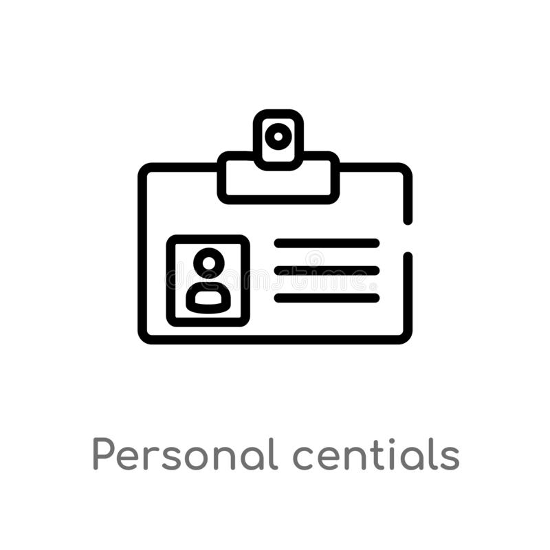 icône personnelle de vecteur de centials d'ensemble r editable illustration stock