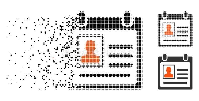 Icône personnelle tramée d'insigne de pixel cassé illustration libre de droits