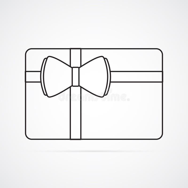 Icône plate découpée de silhouette, conception simple de vecteur Carte de rectangle avec l'arc illustration de vecteur