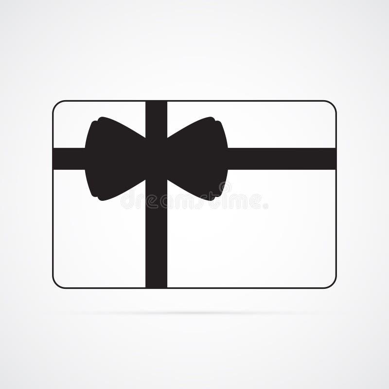 Icône plate découpée de silhouette, conception simple de vecteur Carte de rectangle avec l'arc illustration libre de droits