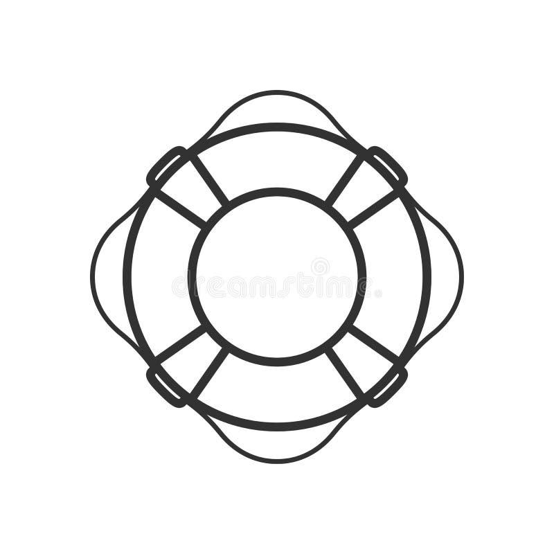 Icône plate d'ensemble de conservateur de vie sur le blanc illustration stock