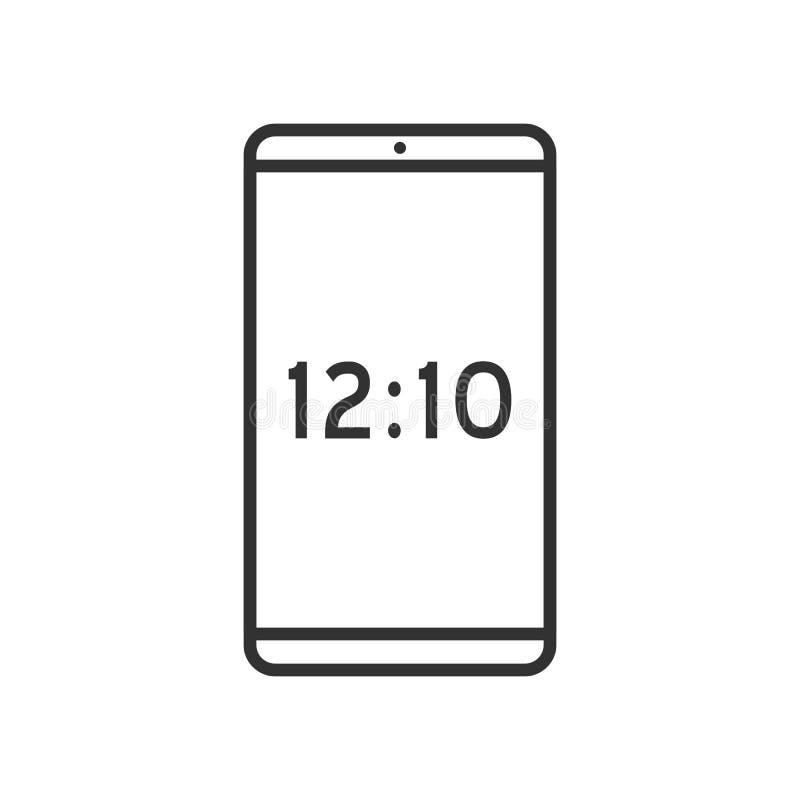 Icône plate d'ensemble de Smartphone sur le blanc illustration stock