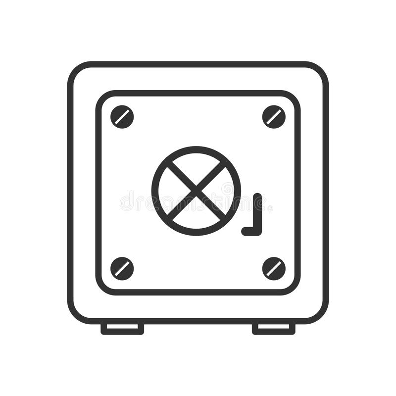 Icône plate d'ensemble sûr de coffre-fort sur le blanc illustration stock