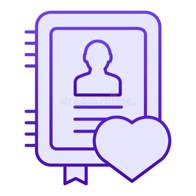 Icône plate de bloc-notes personnel Icônes bleues de carnet dans le style plat à la mode Conception de style de gradient de certi illustration stock
