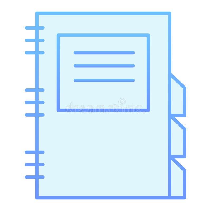 Icône plate de bloc-notes quotidien Icônes bleues de planificateur quotidien dans le style plat à la mode Conception de style  illustration de vecteur