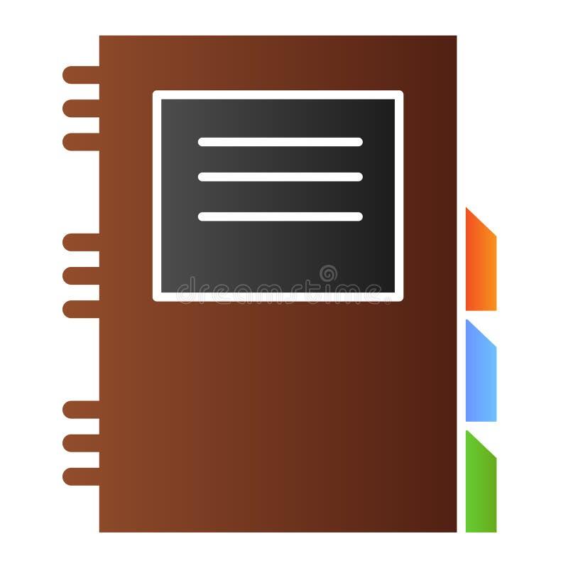 Icône plate de bloc-notes quotidien Icônes quotidiennes de couleur de planificateur dans le style plat à la mode Conception de illustration de vecteur