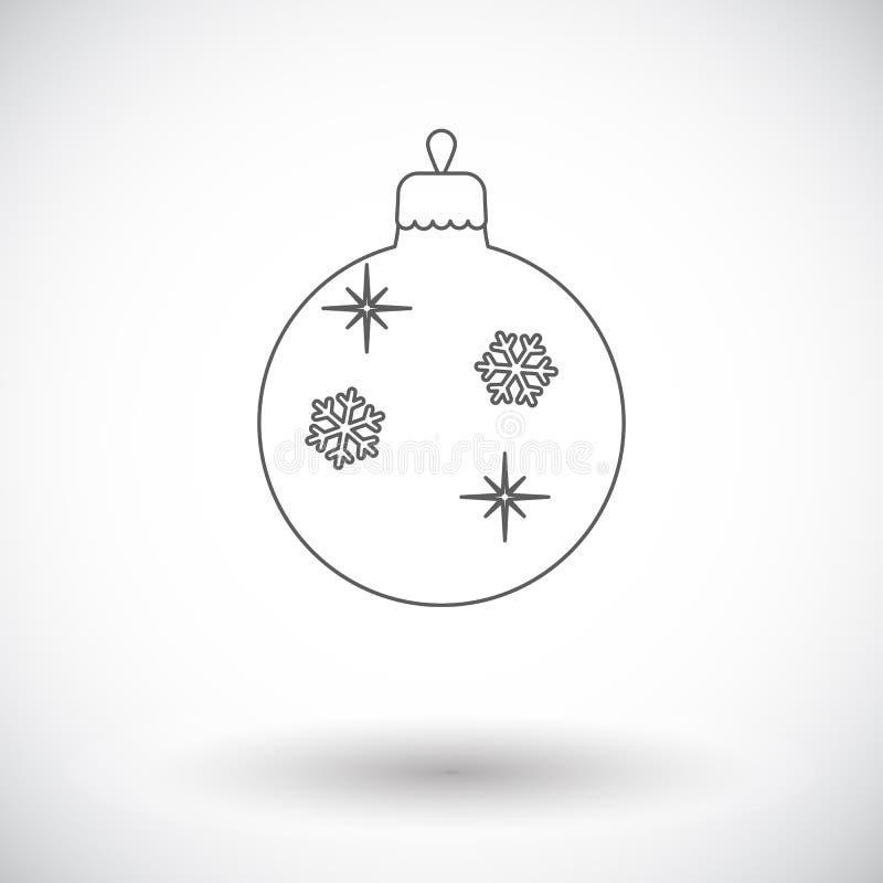 Icône plate de boule de Noël illustration libre de droits