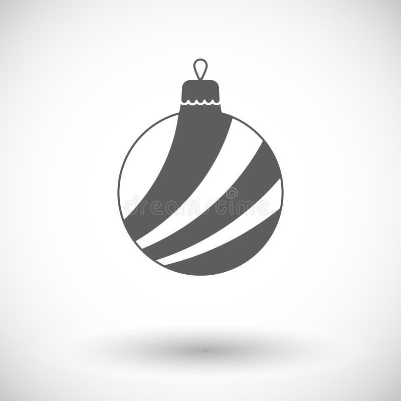 Icône plate de boule de Noël illustration de vecteur