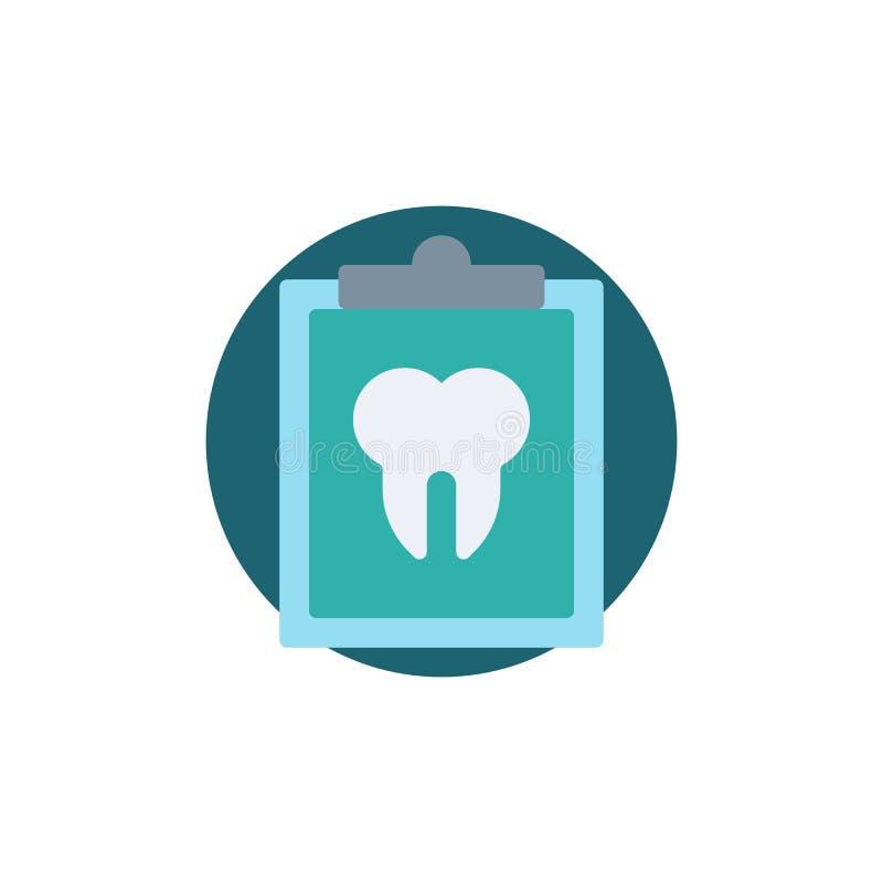 Icône plate de carte dentaire illustration libre de droits