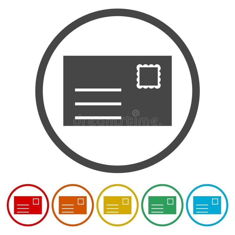 Icône plate de cercle de conception de Web d'email Graphisme de courrier Symbole d'enveloppe Signe de message illustration de vecteur