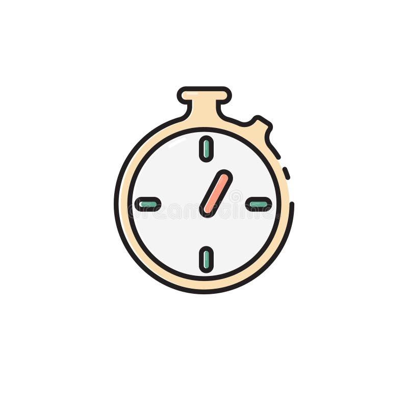 Icône plate de chronomètre de couleur illustration libre de droits
